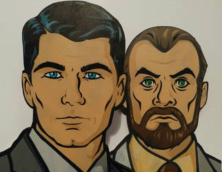 Sterling Archer and Dr Krieger by NeverenderDesign