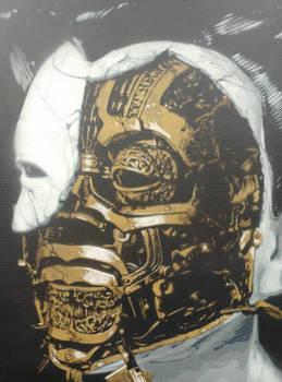 Ghost in the Shell Geisha Stencil