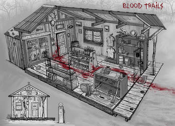 Gas station / blood trails by magmotime