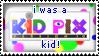 I was a Kid Pix Kid Stamp