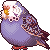 [F2U] blue budgie icon by Shalmons