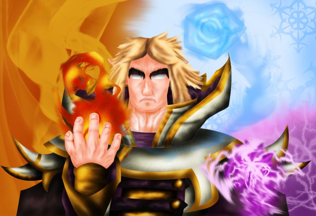 Invoker Dota 2 - Art Trade by Ultimatesupremo on deviantART