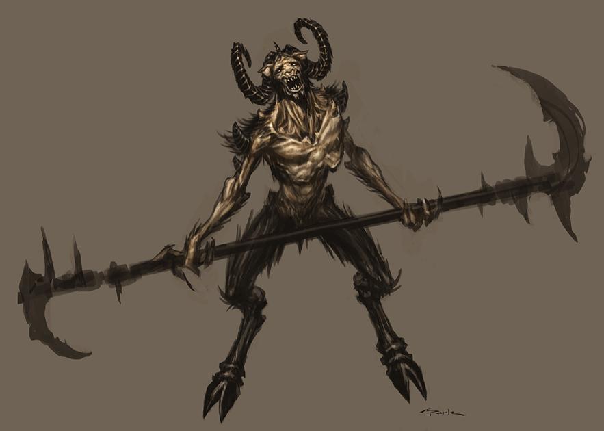 Euryale Greek Mythology God of war-Satyr 04 by...