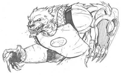 Kirkman's Wolfman by jessemunoz