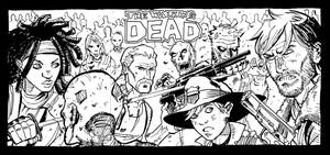 Walking Dead Sketch Cards