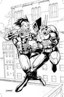 Wolverine vs. Daken by jessemunoz
