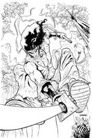 Afro Samurai Lines by jessemunoz