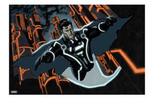Superman plus Tron by jessemunoz