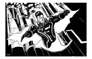Superman plus Tron lines by jessemunoz