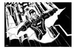 Superman plus Tron lines