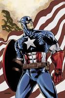 Captain America colors by jessemunoz