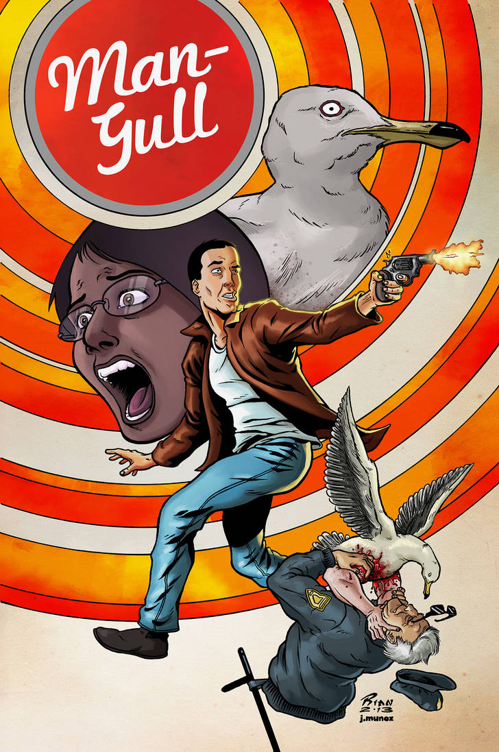 Man-Gull Issue 2 Cover by jessemunoz