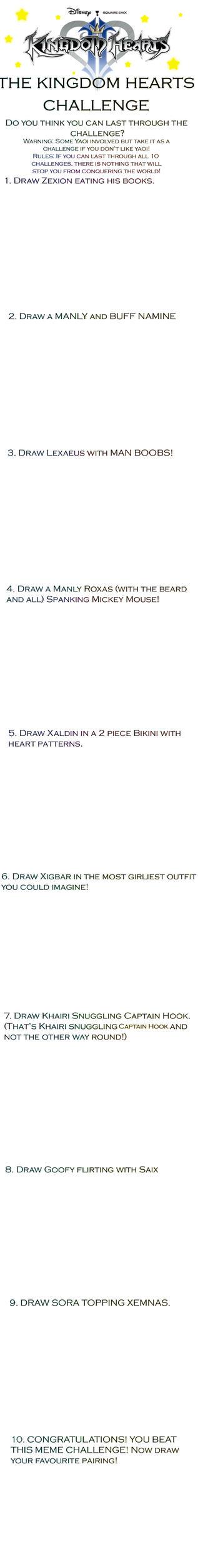 Kingdom Hearts Meme Challenge by BlackSapphireFlame