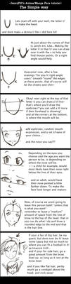 How to draw Anime Face tutoria