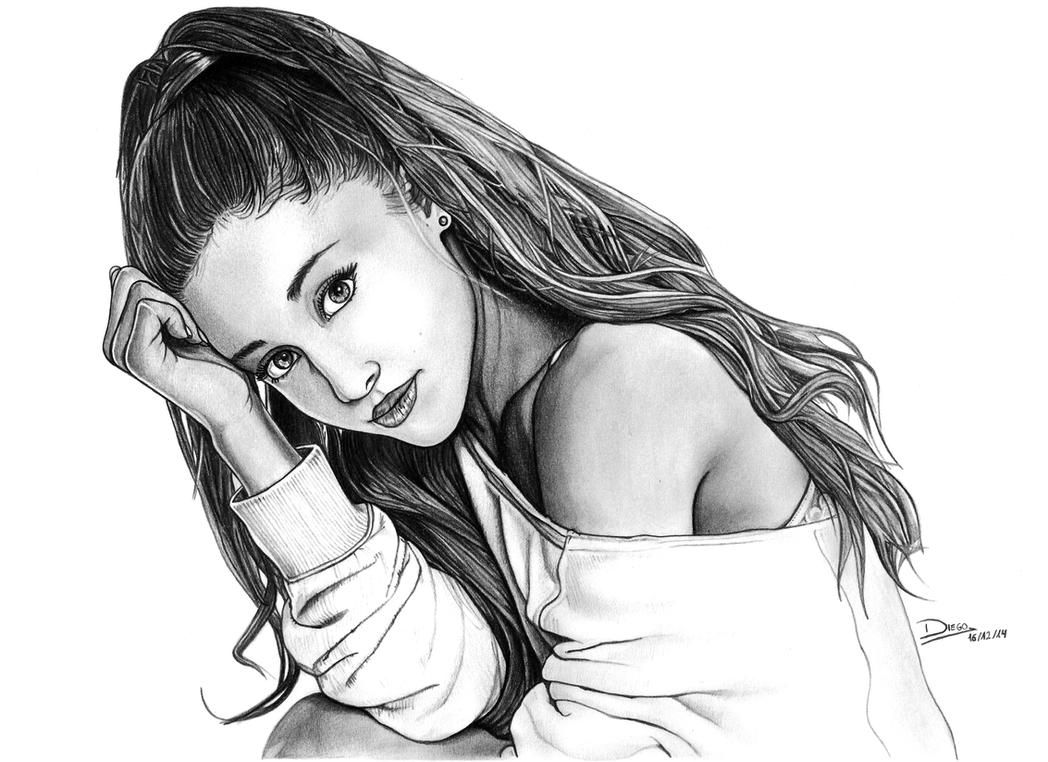 Ariana grande pencil drawing ariana grande b