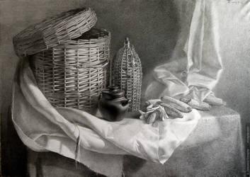 Shadows on wicker baskets by shvayba