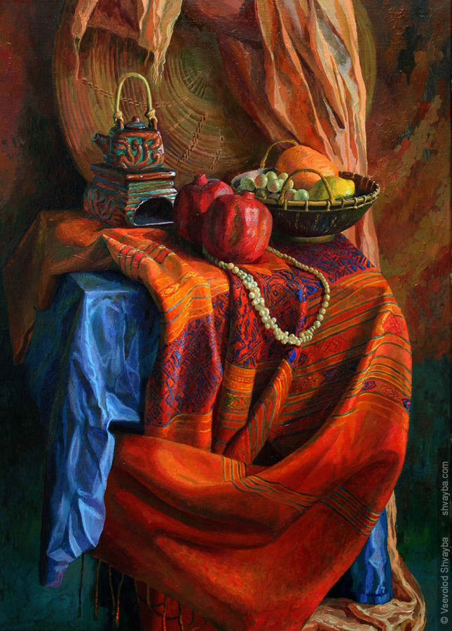 Still life with indian draper