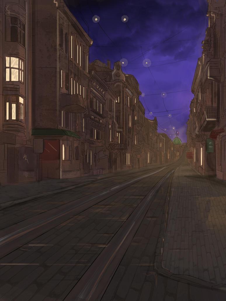 Abandon Europe Street WIP by SorinCrecens