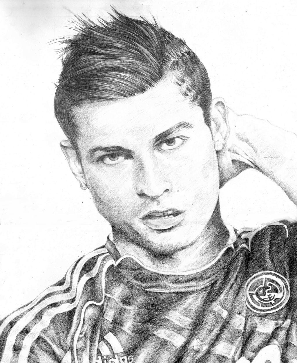 soccer coloring pages ronaldo hair - photo#30