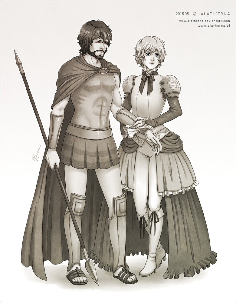 - Leonidas and Jeanne - COM by alatherna