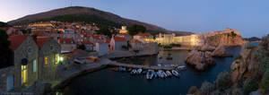 City of Dubrovnik at dusk