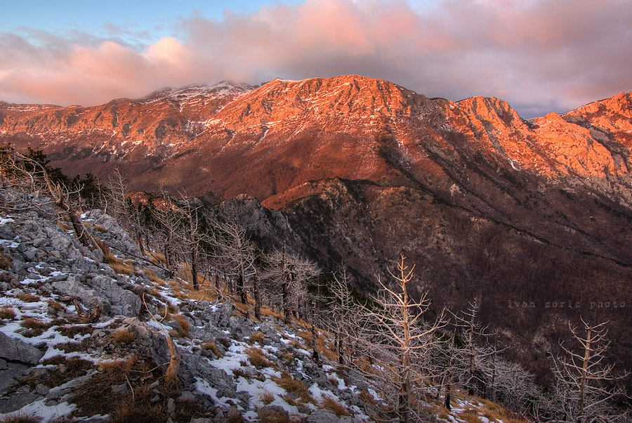 Velebit painted in red II by ivancoric