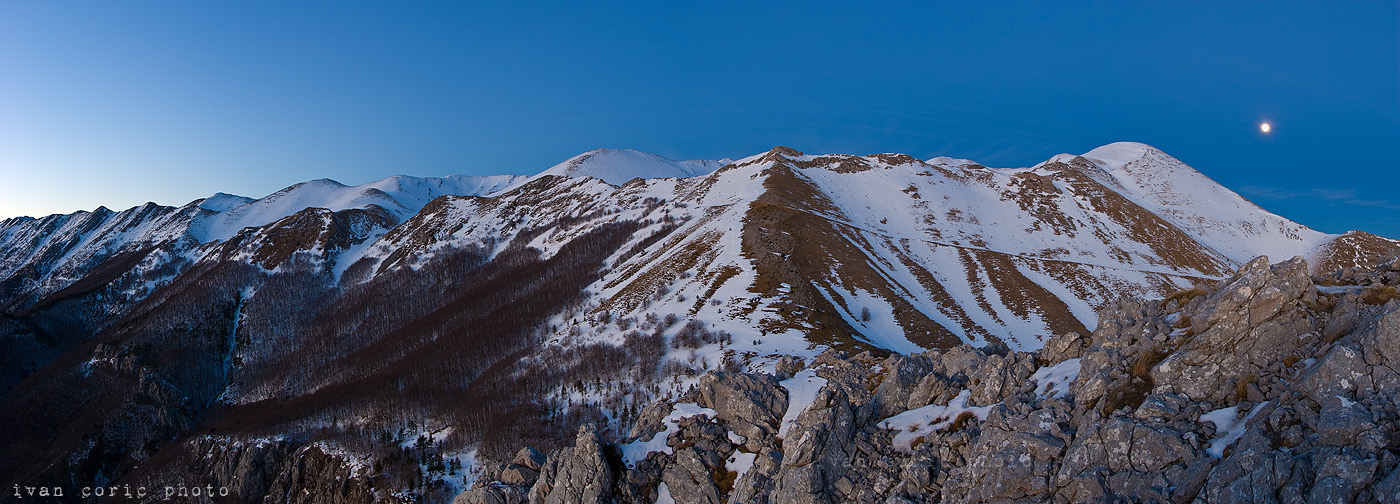 Velebit under the moonlight by ivancoric
