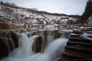 Plitvice in white 04 by ivancoric