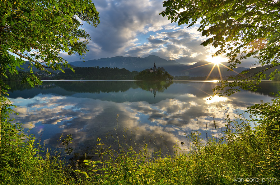 Sunrise on Bled
