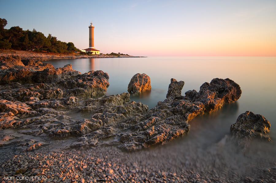 Around lighthouse Veli rat by ivancoric