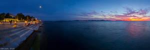 Sunset at sea organs
