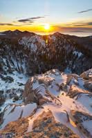 Winter sunset on North Velebit II by ivancoric