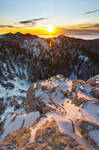 Winter sunset on North Velebit II