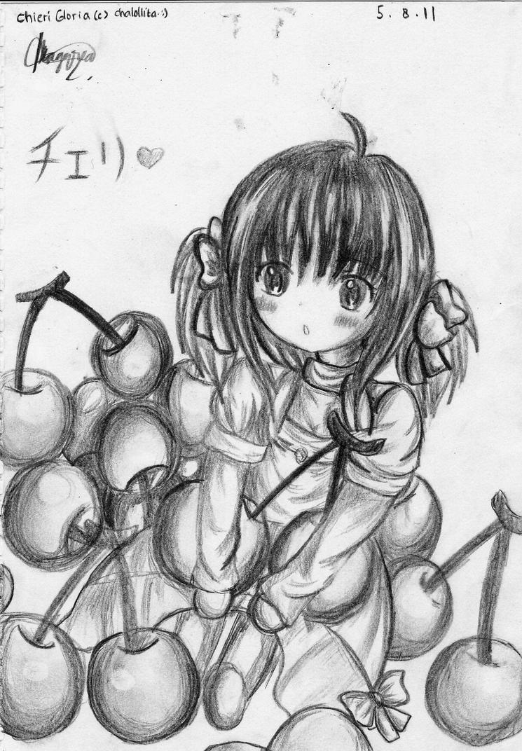 Sketch : chibi Chieri Gloria by chalollita