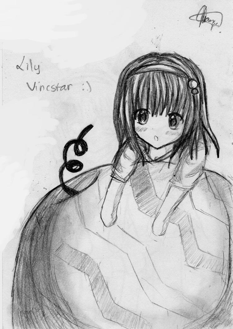 Fanart sketch : Lily Vincstar by chalollita