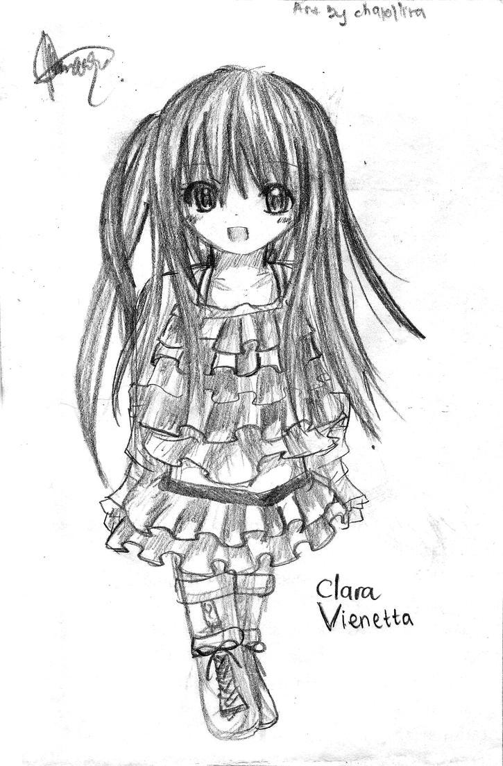 OC sketch : Clara Vienetta by chalollita