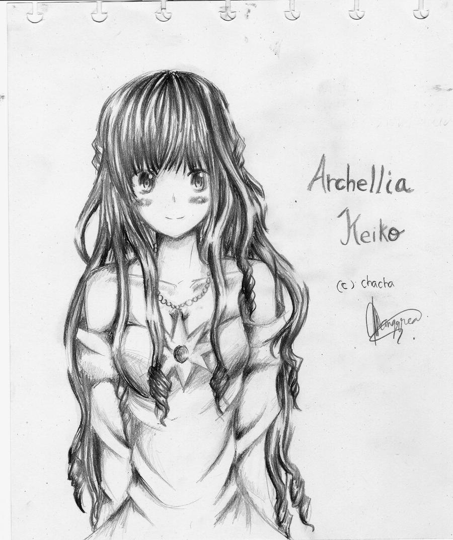 OC sketch : Archellia Keiko by chalollita