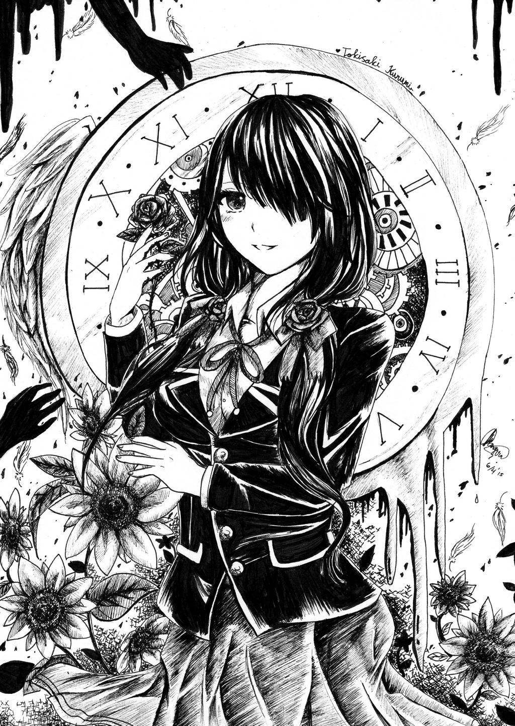 Ink: Tokisaki Kurumi by chalollita