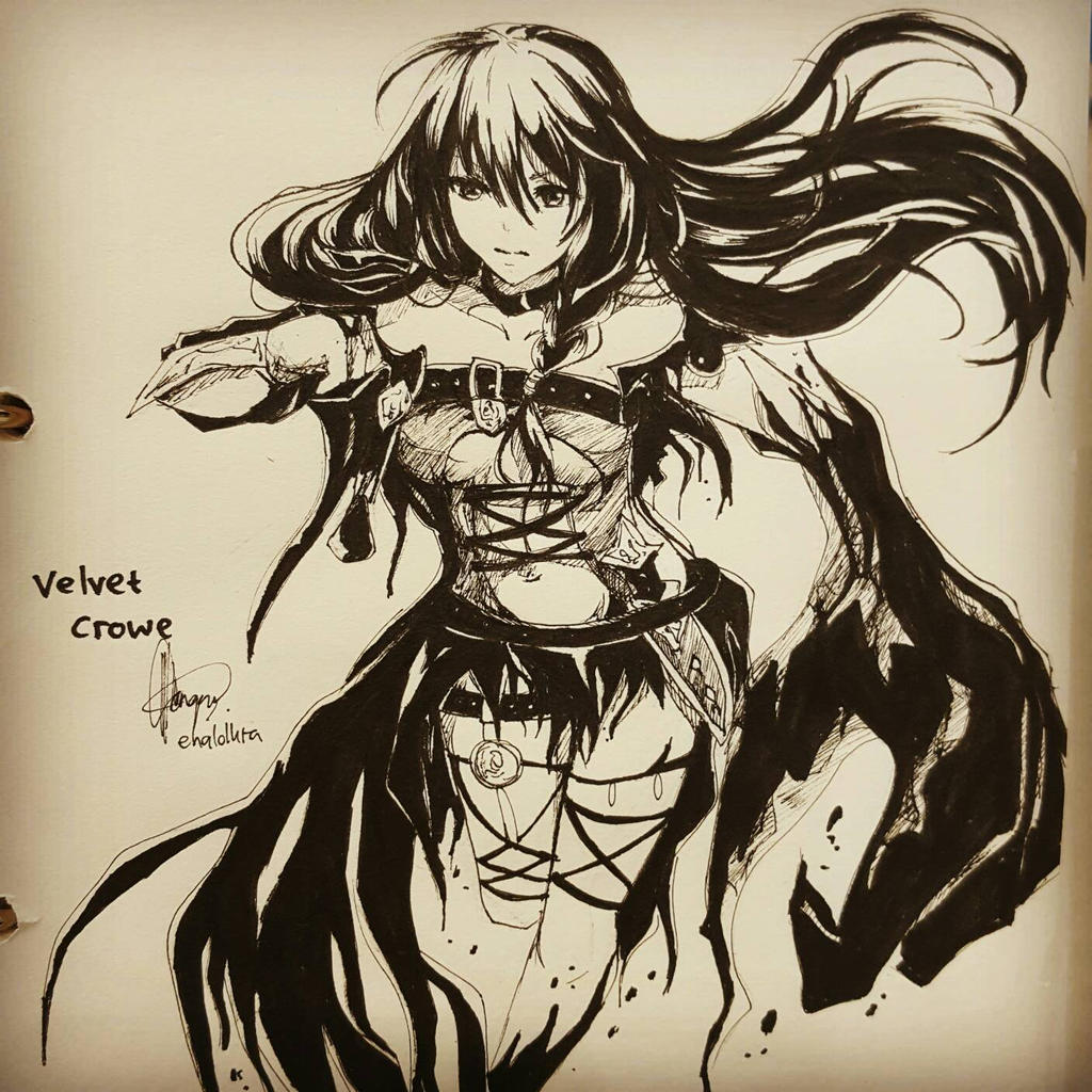 Velvet Crowe ink by chalollita