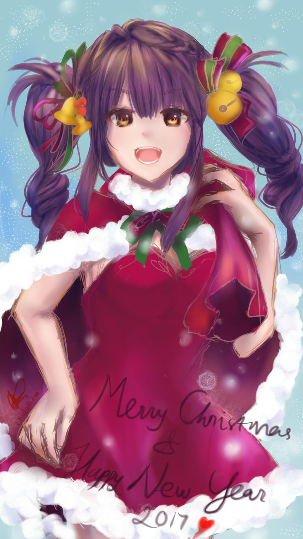 Merry Christmas-Happy New Year 2017 by chalollita