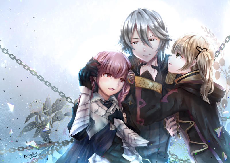 Commission: Laslow and FE OCs Ruri by chalollita