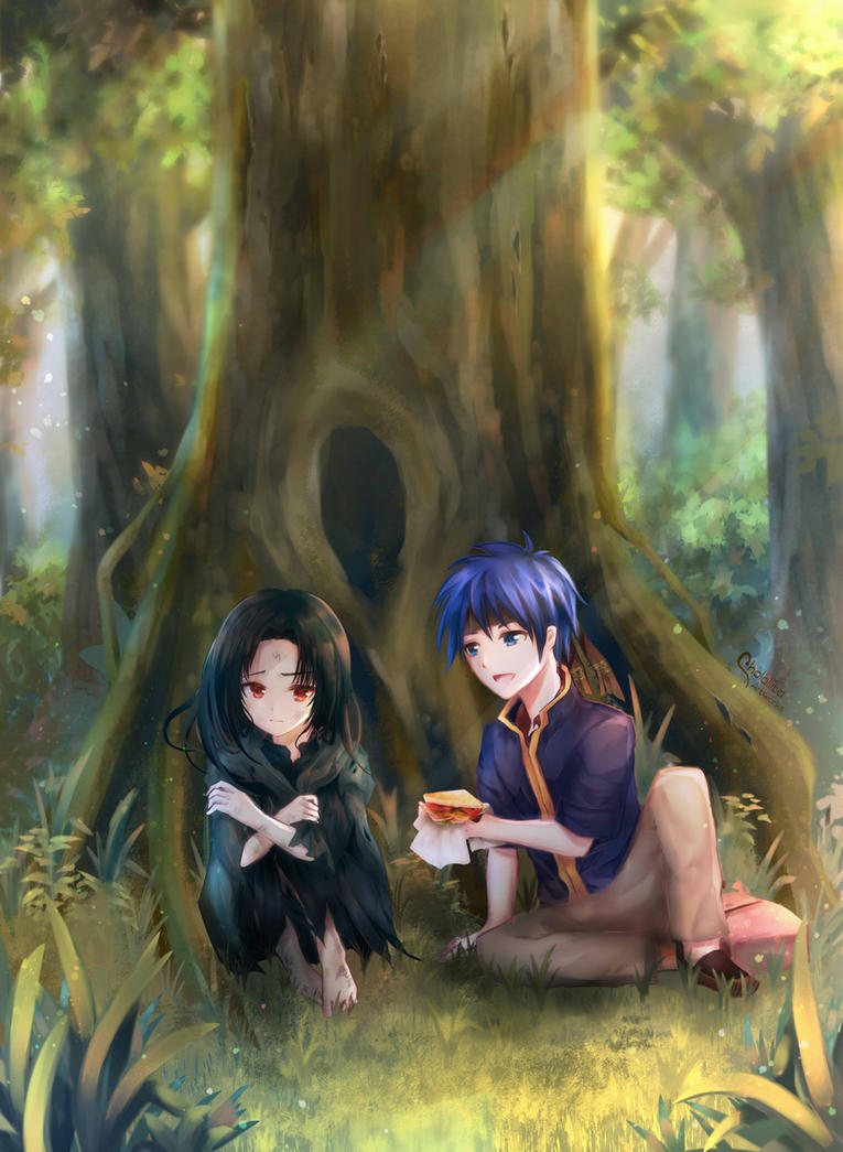 Commission : Ike and Soren Childhood by chalollita
