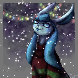A little Christmas Glaceon~
