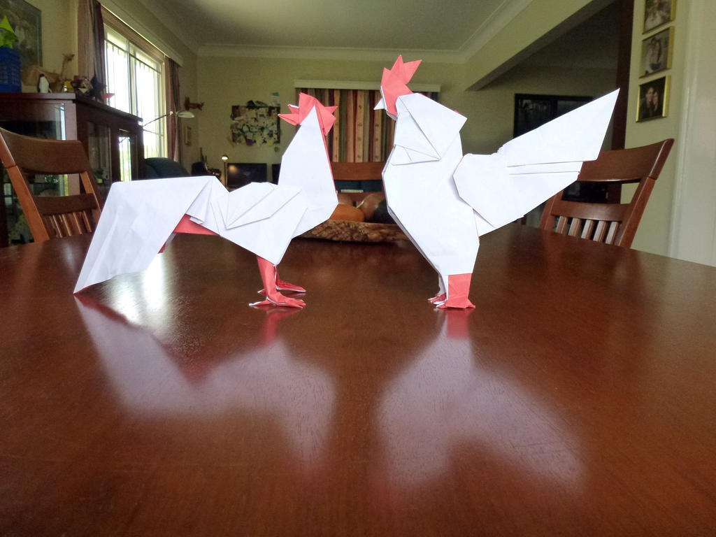 Two Cocks by neubauten