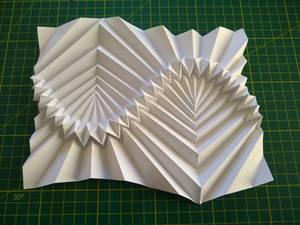 Sine Wave following flat-folding corrugation