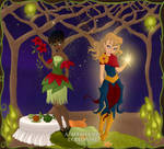 Pixie Carol and Maria by isabellerecs