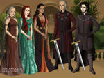 The Young Royals in Kings Landing by isabellerecs