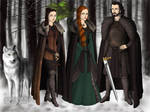 The Starks in Winterfell by isabellerecs
