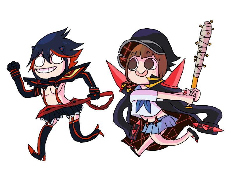 Ryuko And Mako By Wowza Wowzers On Deviantart