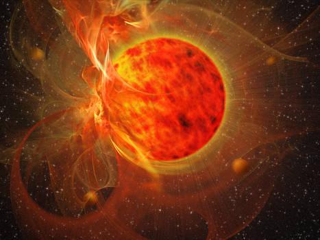 Daphon Tair, the volcanic sun
